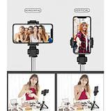 Универсальный маленький штатив для телефона с селфи-палкой 360 и пультом L01s, трипод, тренога, Bluetooth, фото 6