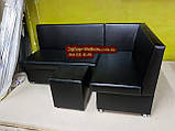 Кухонный уголок черный Пегас + спальное место кровать, фото 2