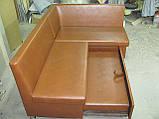 Кухонный уголок черный Пегас + спальное место кровать, фото 5