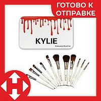 Распродажа! Набор кистей для макияжа набор 12 шт. кисти Kylie для бровей растушевки теней пудры, фото 1