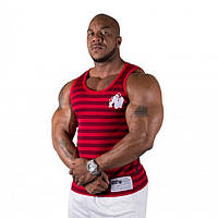 Gorilla Wear, Майка Stripe Stretch Tank Top Red, фото 1