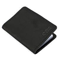 Обложка кожаная на ID паспорт, права Handycover HC0047 черная, фото 1