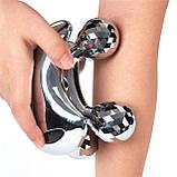 Ручной роликовый массажер для лифтинга лица и тела 4Д 360 Антицеллюлитный массаж Подтяжка лица и коррекция, фото 3