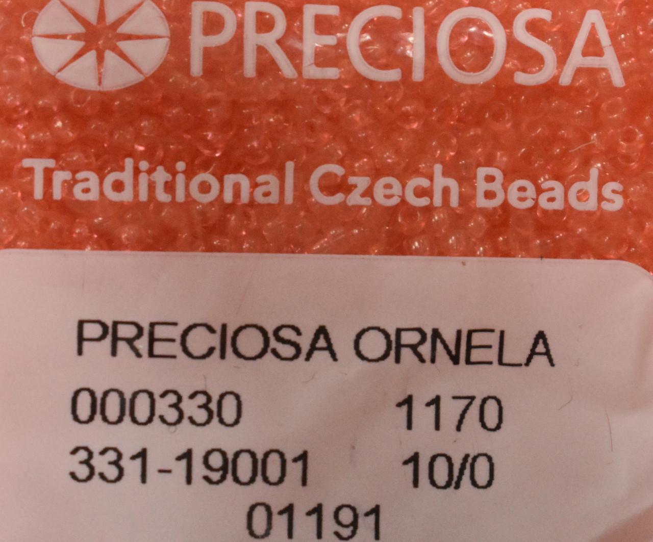 Бисер Preciosa 10/0 цвет 01191 розовый 5г