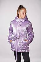 Детская подростковая куртка для девочки Lika (146-158см) Лаванда Tiaren на весну-осень