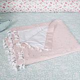 Детский гамак тканевый с кистями, размер 90*140см на 3-6 лет, качель подвесная детская тканевая, бохо стиль, фото 2