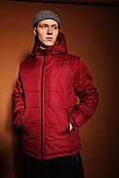 Мужская зимняя классическая куртка Pronto (bordo), теплая стеганая куртка на зиму