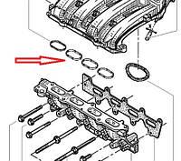 Прокладка впускного коллектора  Renault Megane II -1.4i 16V (K4J). Оригинал Renault 8200052312