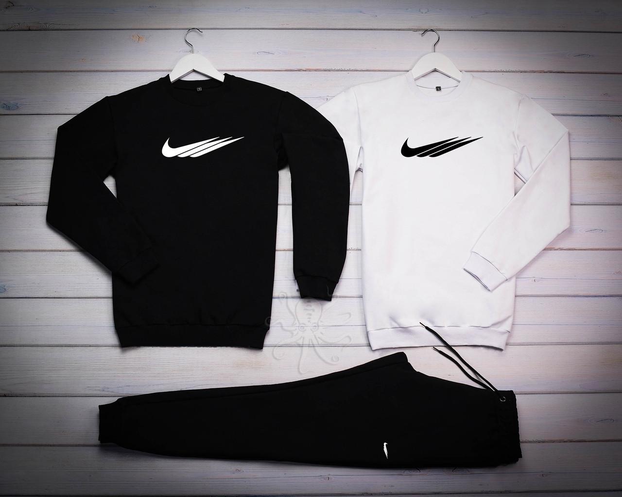 Nike Fri Mужской черный спортивный костюм осень/весна.Nike Свитшот 2шт+штаны. Мужской спорт комплект