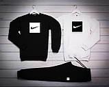 Nike Fri Mужской черный спортивный костюм осень/весна.Nike Свитшот 2шт+штаны. Мужской спорт комплект, фото 2