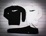 Nike Fri Mужской белый спортивный костюм осень/весна.Nike Свитшот 2шт+штаны. Мужской спорт комплект, фото 3