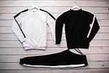 Mужской светло серый спортивный костюм без капюшона демисезонный.Свитшот 2шт+штаны осень Комплектом дешевле, фото 5