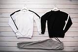 Mужской светло серый спортивный костюм без капюшона демисезонный.Свитшот 2шт+штаны осень Комплектом дешевле, фото 6
