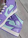 Женские кроссовки Air Jordan 1 Mid Purple Aqua, фото 3