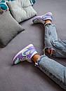 Женские кроссовки Air Jordan 1 Mid Purple Aqua, фото 10