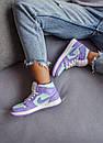 Жіночі кросівки Air Jordan 1 Mid Purple Aqua, фото 5