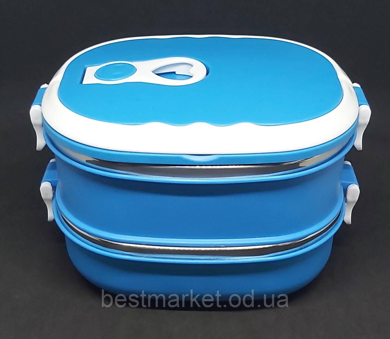 Ланч Бокс для Харчових Продуктів на 2 секції Lunch Box Контейнер для їжі