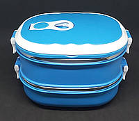 Ланч Бокс для Харчових Продуктів на 2 секції Lunch Box Контейнер для їжі, фото 1