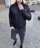 Asos Мужская стеганая короткая голубая куртка ветровка без капюшона осень/весна демисезонная, фото 3