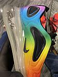 Nike Air Max 720 Женские осенние радужные текстильные кроссовки. Женские кроссовки на шнурках, фото 2