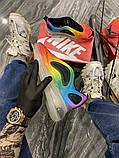 Nike Air Max 720 Женские осенние радужные текстильные кроссовки. Женские кроссовки на шнурках, фото 4