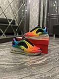 Nike Air Max 720 Женские осенние радужные текстильные кроссовки. Женские кроссовки на шнурках, фото 7