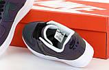 Nike Air Force  Женские осенние черные кожаные кроссовки. Женские кроссовки на шнурках, фото 8