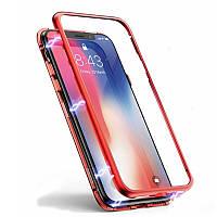 Чехол накладка Magnetic case для iPhone X, Xs Red