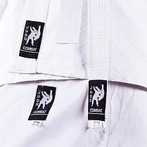 Кимоно дзюдо Combat, белое, 16oz рост 110см, фото 2
