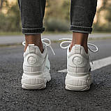 BUFFALO LONDON Женские осенние белые кожаные кроссовки. Женские кроссовки на шнурках, фото 4