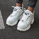 BUFFALO LONDON Женские осенние белые кожаные кроссовки. Женские кроссовки на шнурках, фото 6