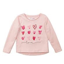 Детский реглан для девочки розовый с сердечками