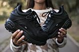 BUFFALO LONDON Женские осенние черные кожаные кроссовки. Женские кроссовки на шнурках, фото 3