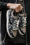 Nike SB Dunk x Travis Scott Женские коричневые кожаные кроссовки. Женские кроссовки на шнурках, фото 2