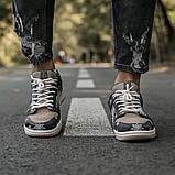 Nike SB Dunk x Travis Scott Женские коричневые кожаные кроссовки. Женские кроссовки на шнурках, фото 6