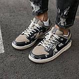 Nike SB Dunk x Travis Scott Женские коричневые кожаные кроссовки. Женские кроссовки на шнурках, фото 7