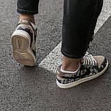 Nike SB Dunk x Travis Scott Женские коричневые кожаные кроссовки. Женские кроссовки на шнурках, фото 8