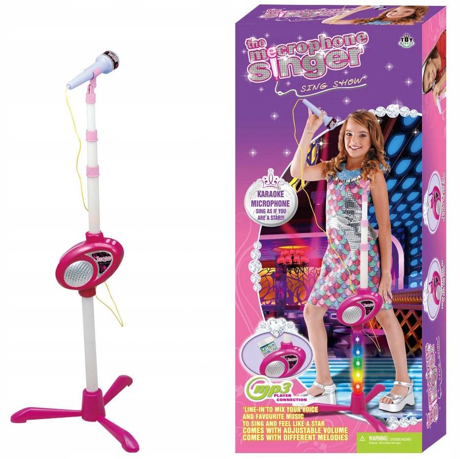 Детский микрофон караоке с подключением MP3-плеера для детей
