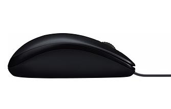 Мышь проводная Logitech M90 USB, Цвет Чёрный, фото 3