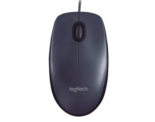 Мышь проводная Logitech M90 USB, Цвет Чёрный, фото 2