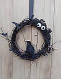 Чорний Декоративний вінок до Хеловіну (Хеллоуїну), фото 5