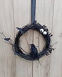 Чорний Декоративний вінок до Хеловіну (Хеллоуїну), фото 2