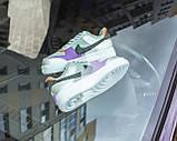 Nike Air Force 1 Shadow Женские осенние серые кожаные кроссовки. Женские кроссовки на шнурках, фото 4
