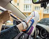 Nike Air Force 1 Shadow Женские осенние серые кожаные кроссовки. Женские кроссовки на шнурках, фото 5