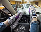 Nike Air Force 1 Shadow Женские осенние серые кожаные кроссовки. Женские кроссовки на шнурках, фото 7