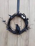 Чорний Декоративний вінок до Хеловіну (Хеллоуїну), фото 4