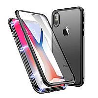 Чехол накладка Magnetic case для iPhone X, Xs Black