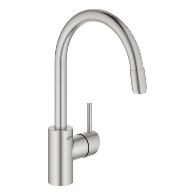 Латунный смеситель (кран) для кухни с выдвижным изливом Grohe Concetto 32663DC3