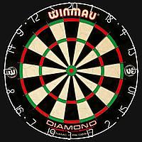 Мишень для Дартса Продвинутого уровня Winmau Diamond Plus Англия Ø45см + 6 дротиков +линия для броска ОРИГИНАЛ