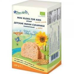 Fleur Alpine Детские мини сухарики пшеничные, 100г (4056114005291)